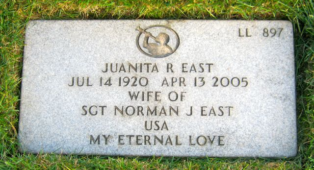 Headstone, Juanita Richardson
