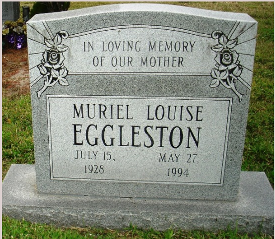 Headstone, Muriel Louise Eggleston
